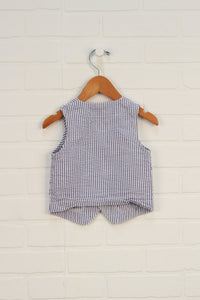 Blue + White Seersucker Vest (Carter's Size 18M)