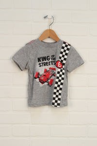 Heathered Grey Graphic T-Shirt (Size 18M)