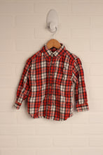 Red + White Plaid Button-Down (Size 24M)