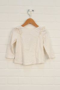 Cream Graphic Top: Halloween (Size 18-24M) *STAFF PICK*