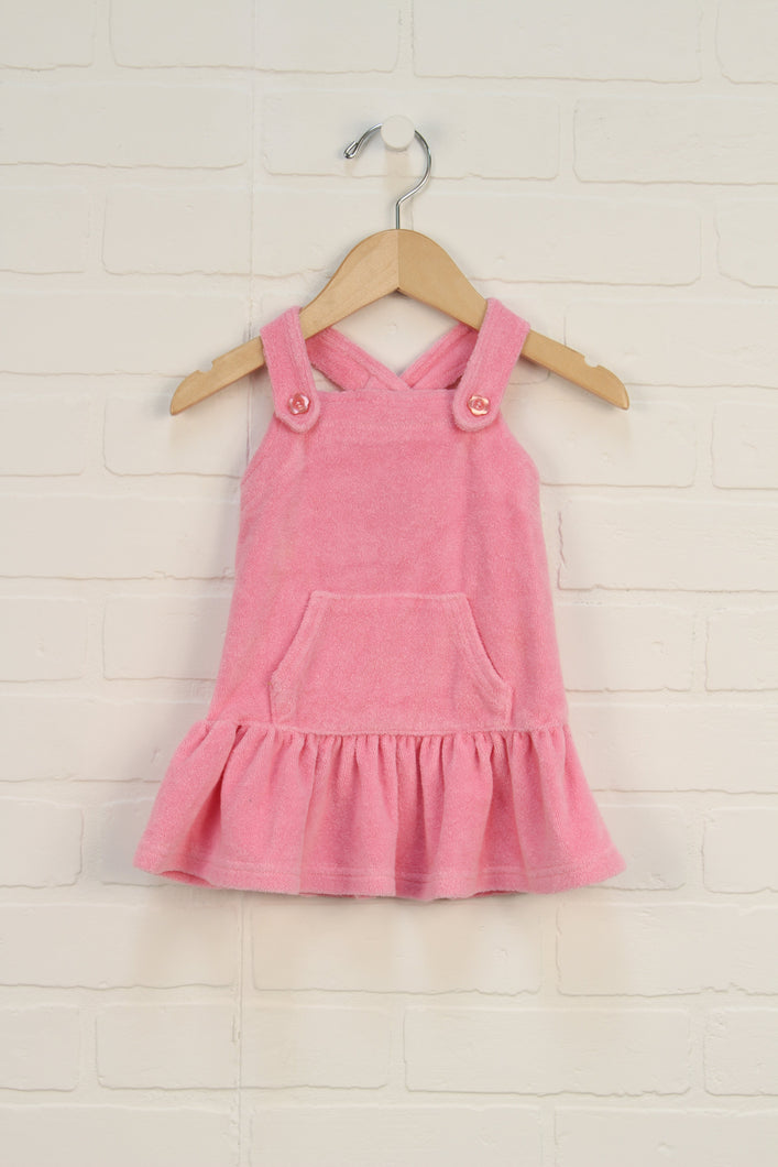 Pink Terry Cloth Dress/Swim Cover Up (Size 12M)