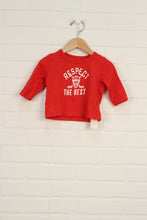 Red Graphic T-Shirt: Hockey (Size 3M)