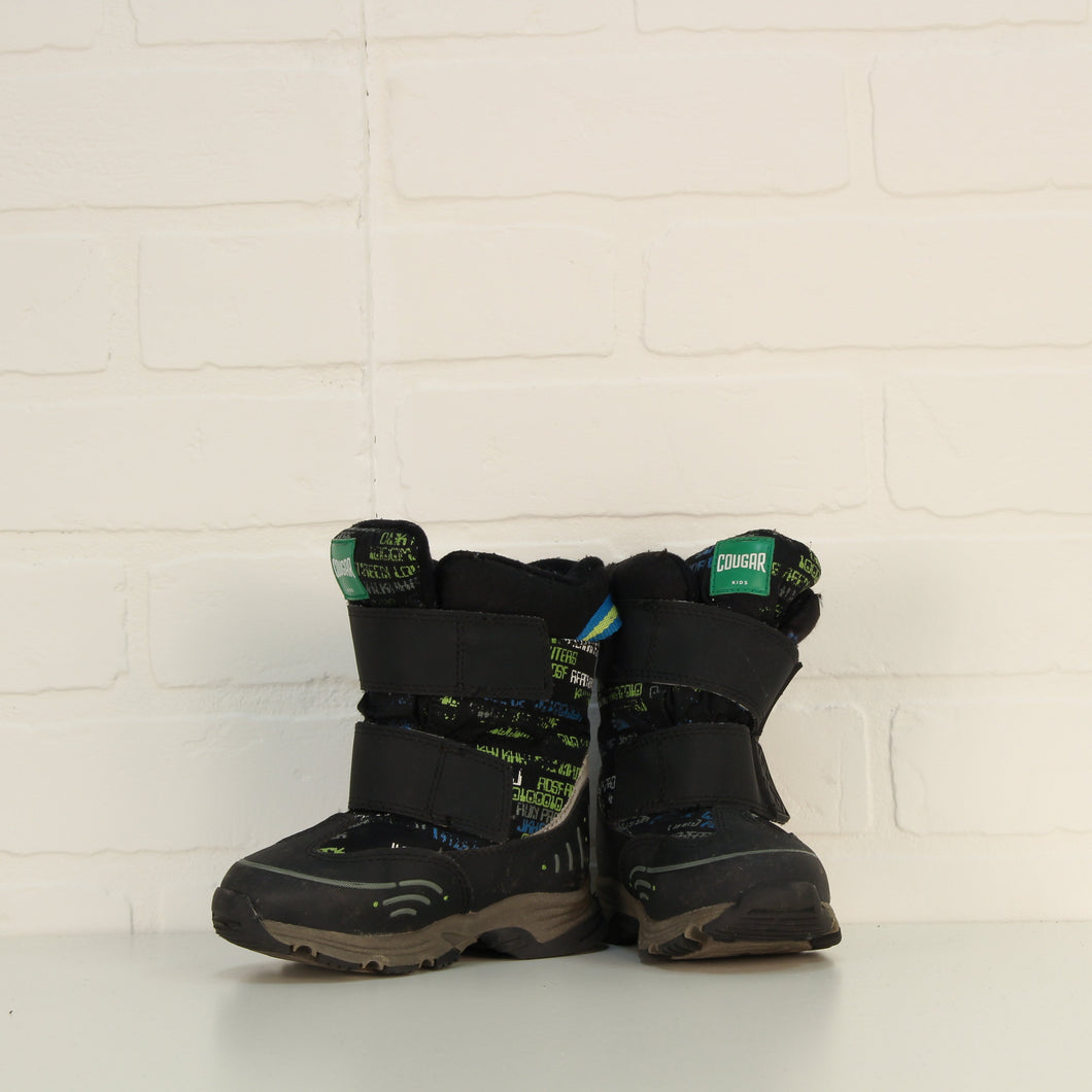 Black + Multi Winter Boots (Little Kids Shoe Size 7)
