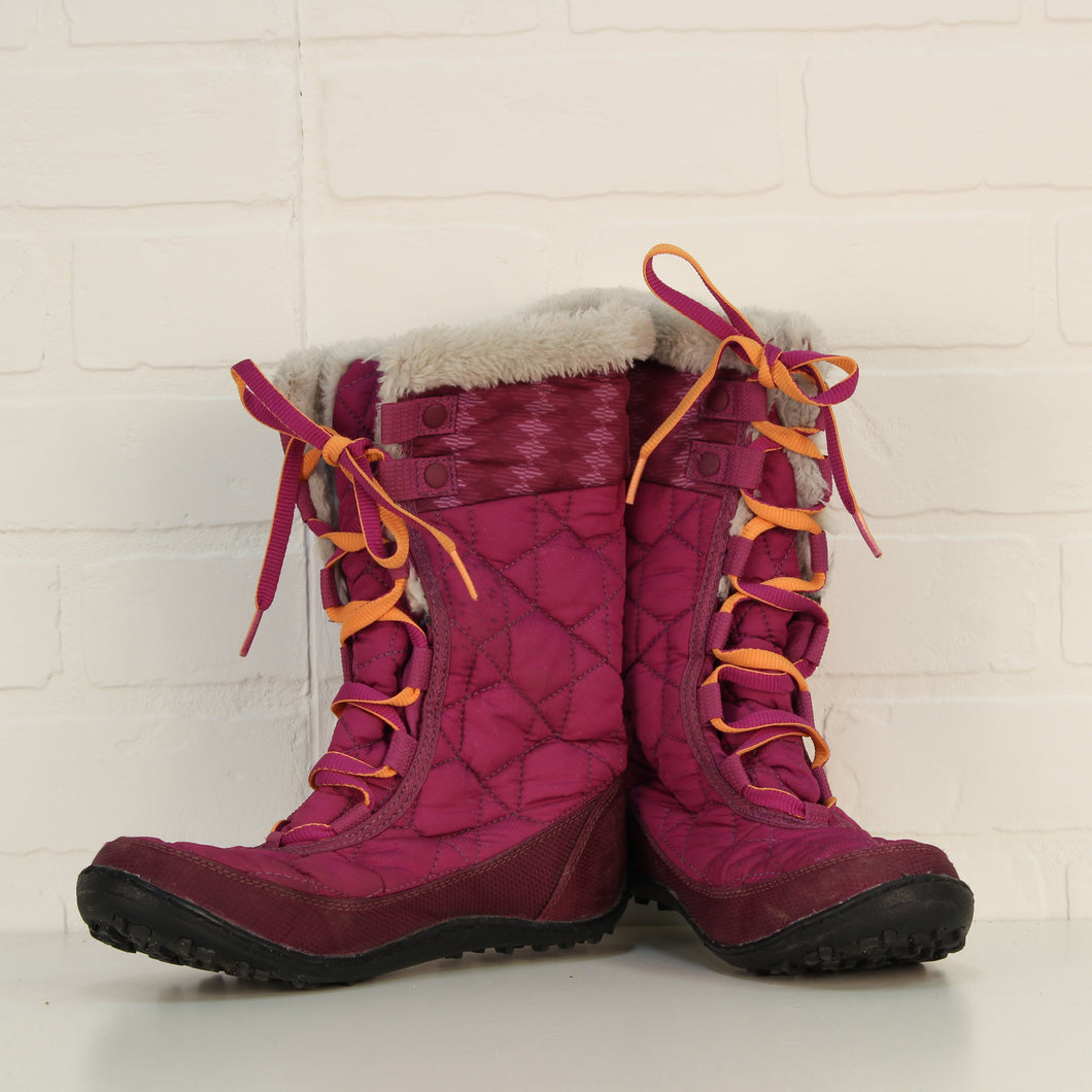 Magenta Winter Boots (Big Kids Shoe Size 3)