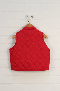 Tomato Quilted Vest (Size XL/18-24M)