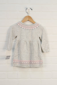NWT Grey + Blush Sweater Dress (Carter's Size 9M)
