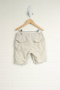 Cream Pinstripe Shorts (Size 4-5)