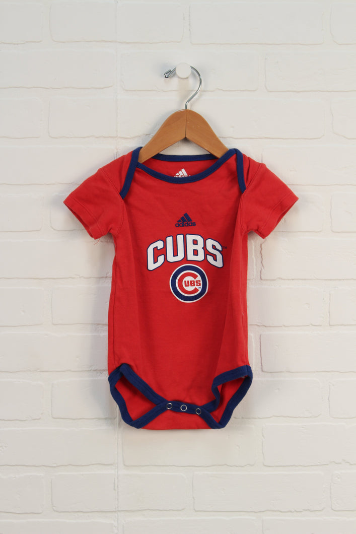 Red + Blue Graphic Onesie: Cubs (Size 12M)