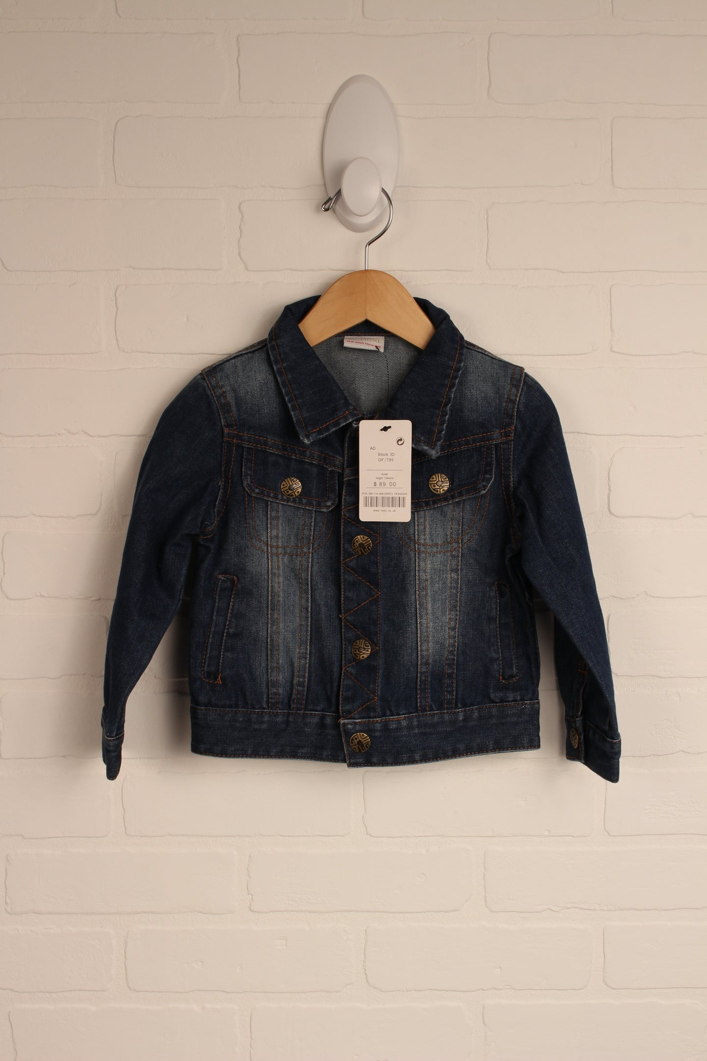 NWT Vintage Wash Denim Jacket (Size 4)
