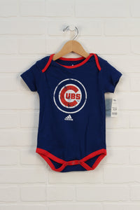 NWT Blue + Red Graphic Onesie: Cubs (Size 12M)
