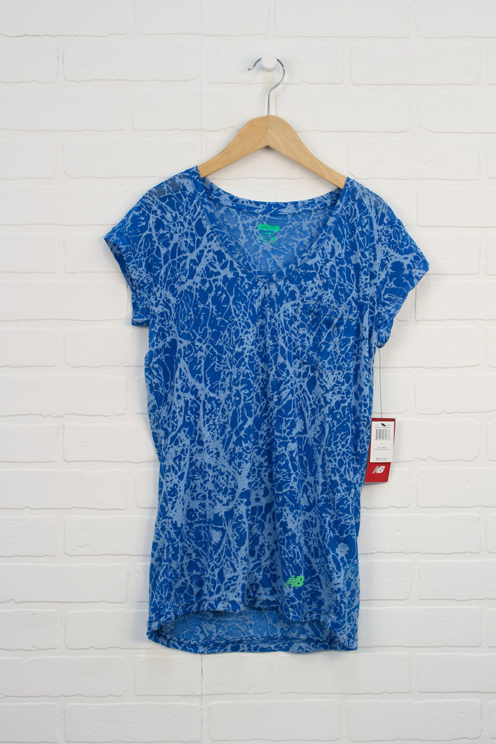 NWT Blue Sheer Top (Women's Size L)