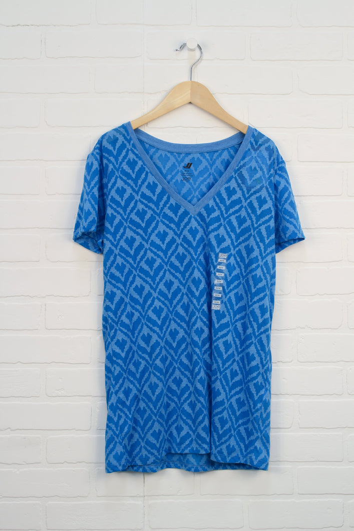 NWT Blue Graphic Top (Women's Size M)