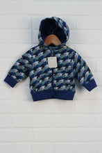 NWT Blue + Green Hoodie (Size 0-3M)