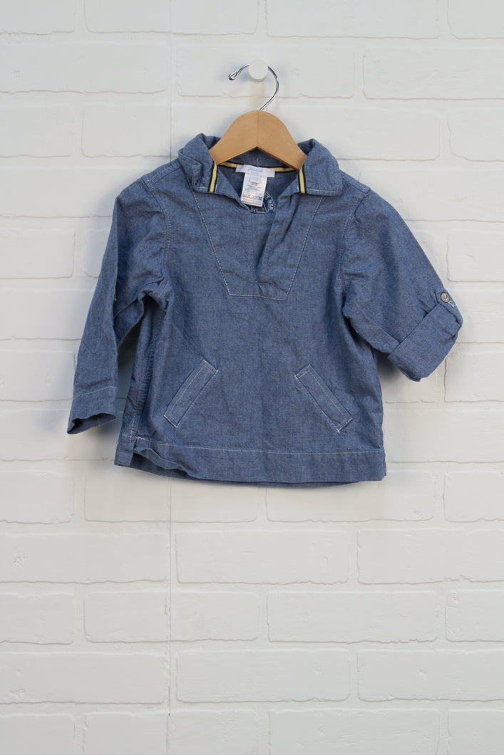 Jacadi Denim Top (Size 18M)