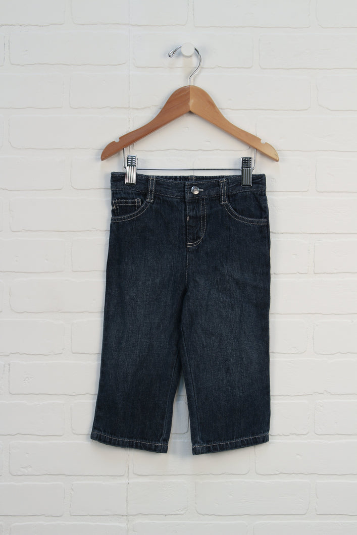 NWT Dark Wash Wide Leg Jeans (Size 12-18M)
