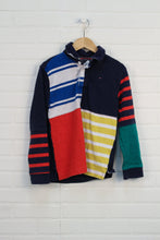 Navy + Multi Rugby Shirt (Size M/8-10)