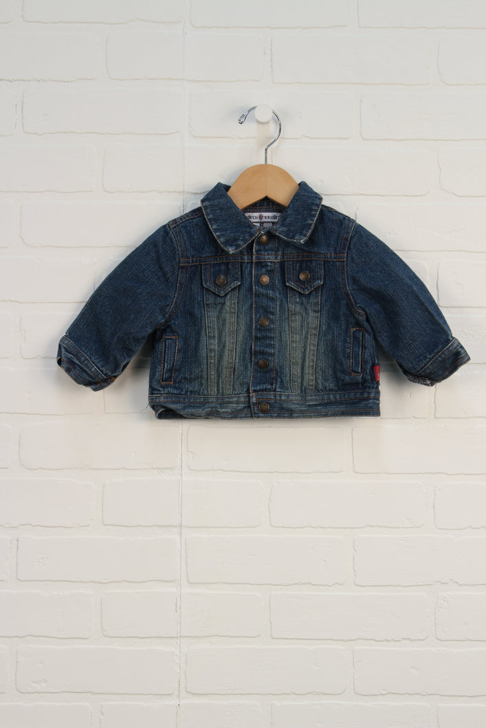 Vintage Wash Denim Jacket (Size 3-6M)