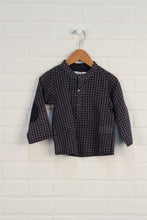 Putty + Navy Gingham Blouse (Size 18M)