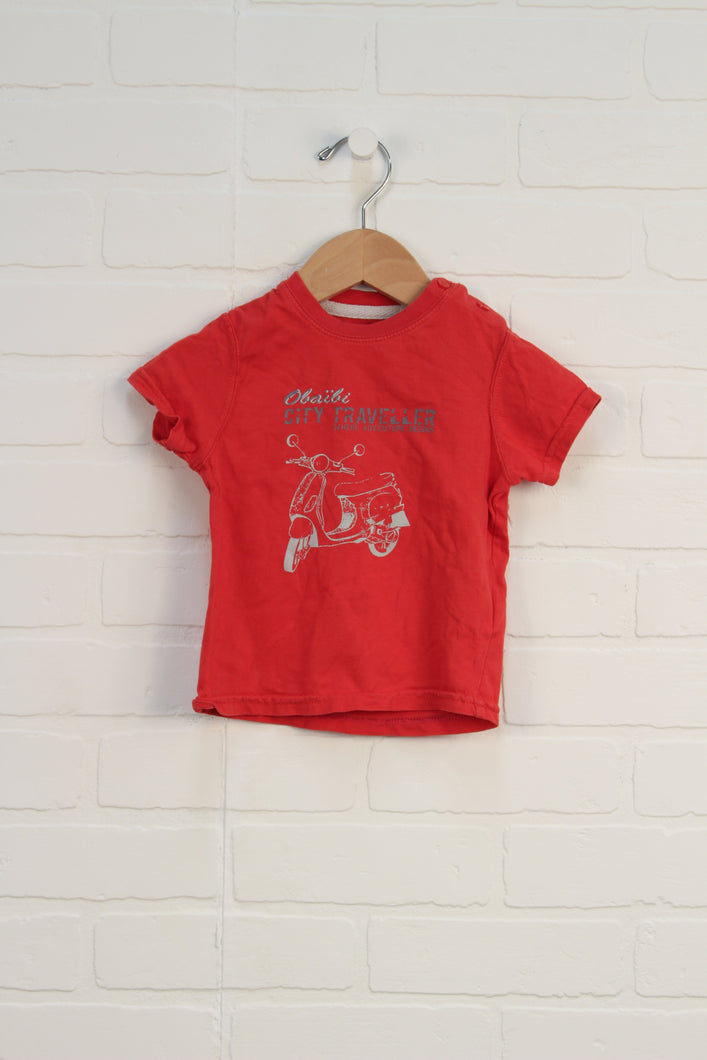 Red Graphic T-Shirt (Size 74/12M)