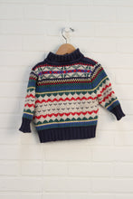 Navy + Cream Sweater (Size 80/12M)
