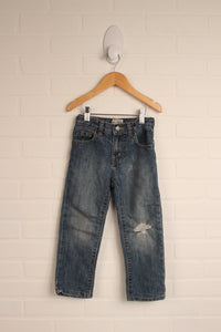 Distressed Wash Skinny Jeans (Size 4T)