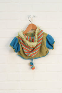 Blue + Chartreuse Shrug (Size 24M) *STAFF PICK*