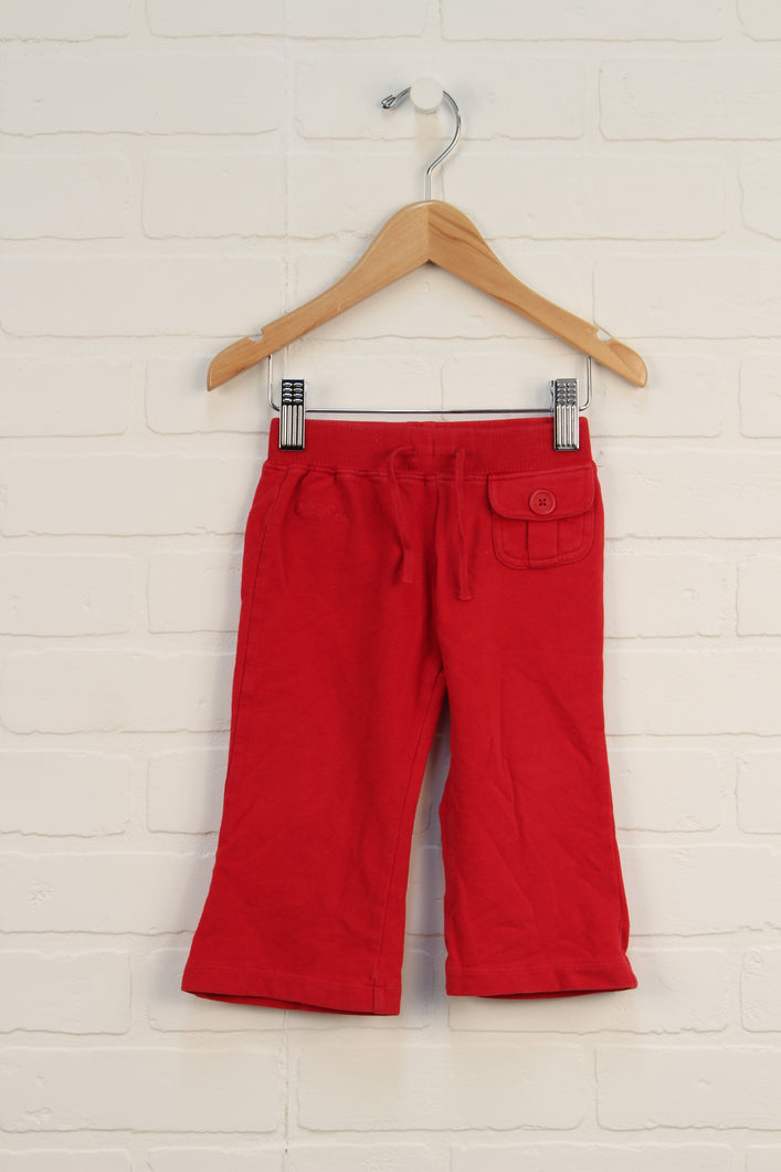 Red Soft-Waist Pants (Size 12-18M)