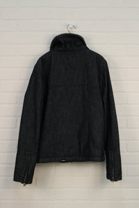 Black Sherpa Lined Jacket (Women's Size M/8))