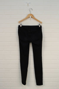 Black French Terry Jeggings (Women's Size 0 Short)