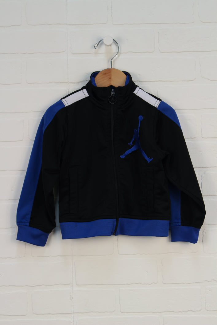 Black +Blue Athletic Jacket (Size 2T)