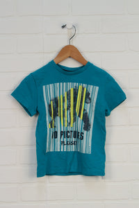 Turquoise Graphic T-Shirt: Gorilla (Size 2-4Y)