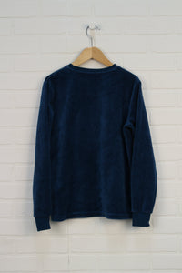 Blue Velour Top (Size 152/12) *STAFF PICK*