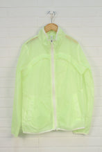 Fluorescent Yellow Vented Wind + Rain Jacket (Women's Size S)