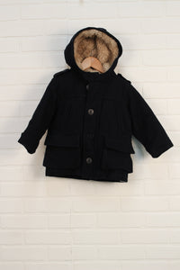 Black Duffle Coat (Size 2)