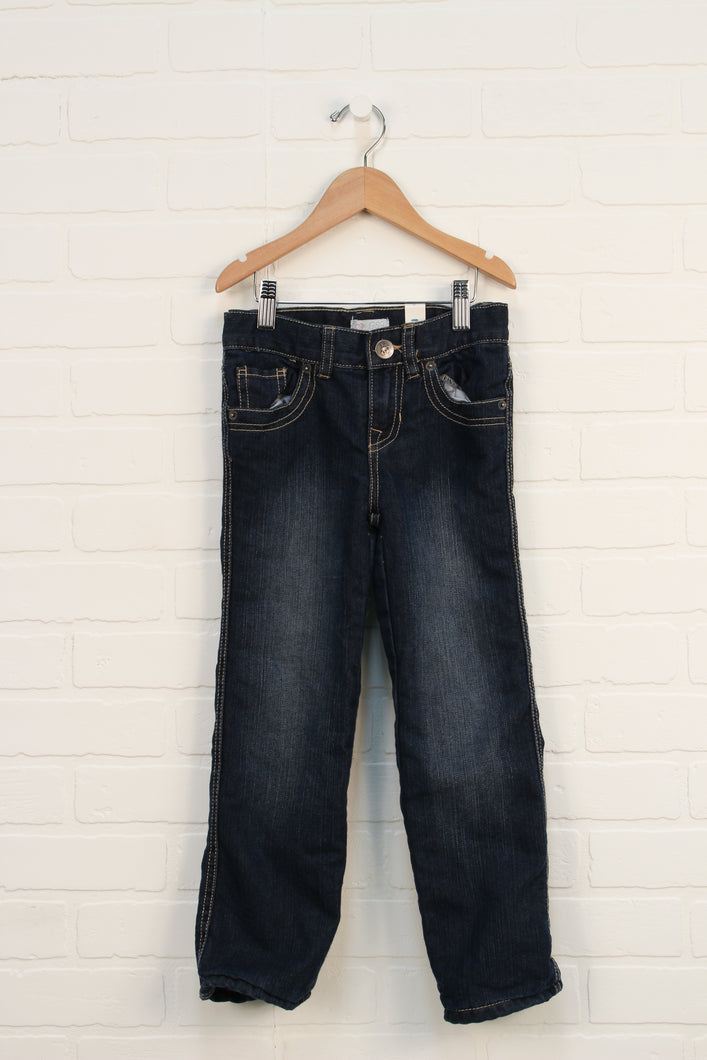 NWT Vintage wash Fleece Lined Jeans (Size 5)