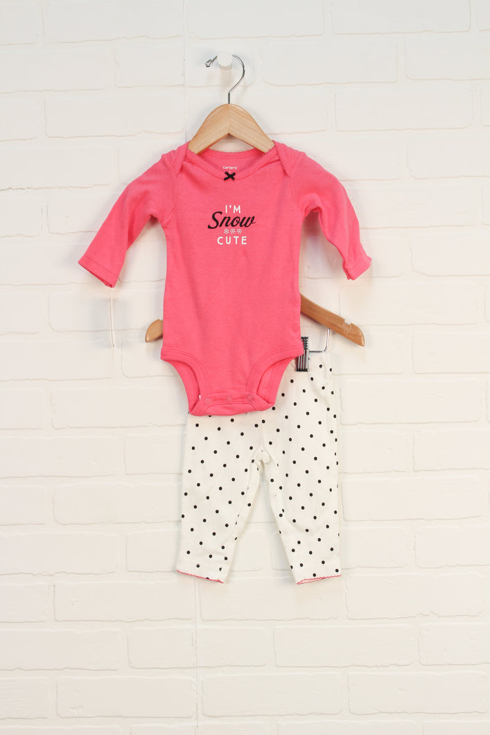 NWT Pink Snow Set (Size 3M) 2 Pieces
