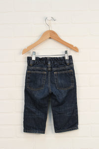 Jersey Lined Straight Leg Jeans (Size 12-18M)