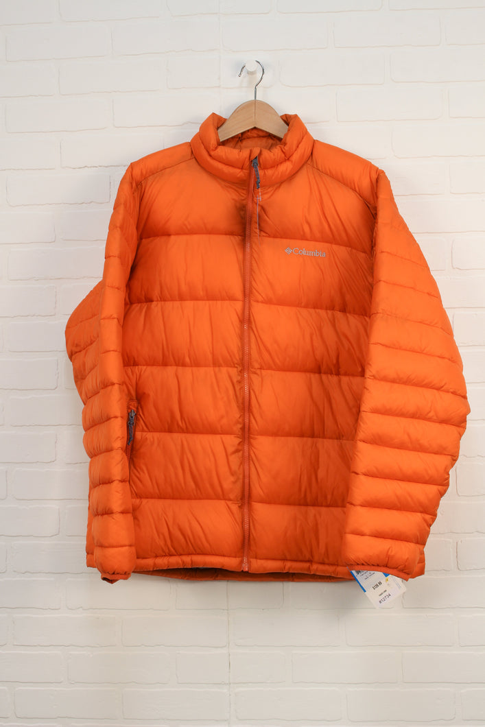 NWT Orange Puffer Coat (Men's Size L)
