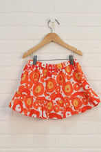 Orange + Red Floral Skirt (Size XS/4-5)