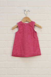 Hot Pink Jersey Lined Dress (Size 62/2-4M)