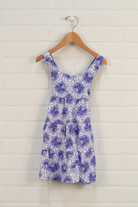 Lilac + White Graphic Sundress: Butterflies (Size 98/2-3)