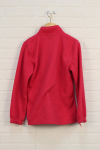 Raspberry Fleece Jacket (Size 11-12)