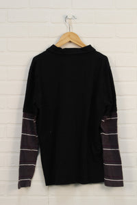 Black Graphic Top (Size XL/16)