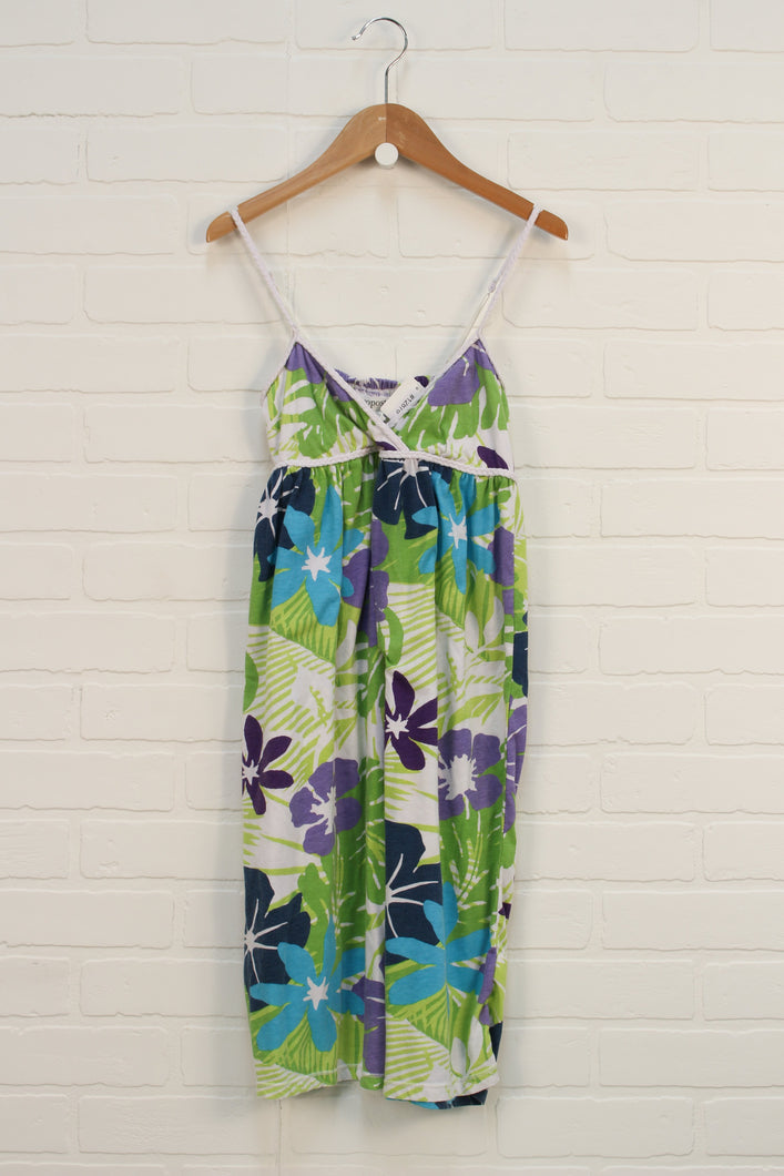 Lime + Blue Floral Sundress (Women's Size XS)