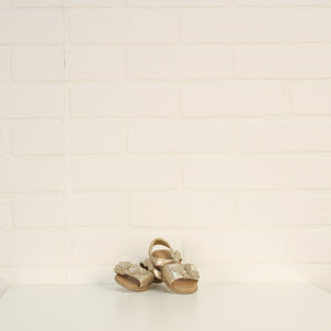 Gold Floral Sandals (Little Kids Shoe Size 3)