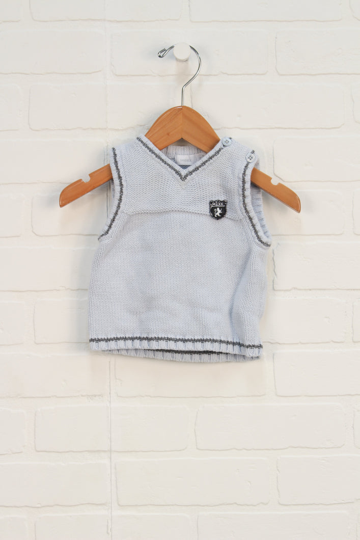 Light Blue Sweater Vest (Size 68/4-6M)