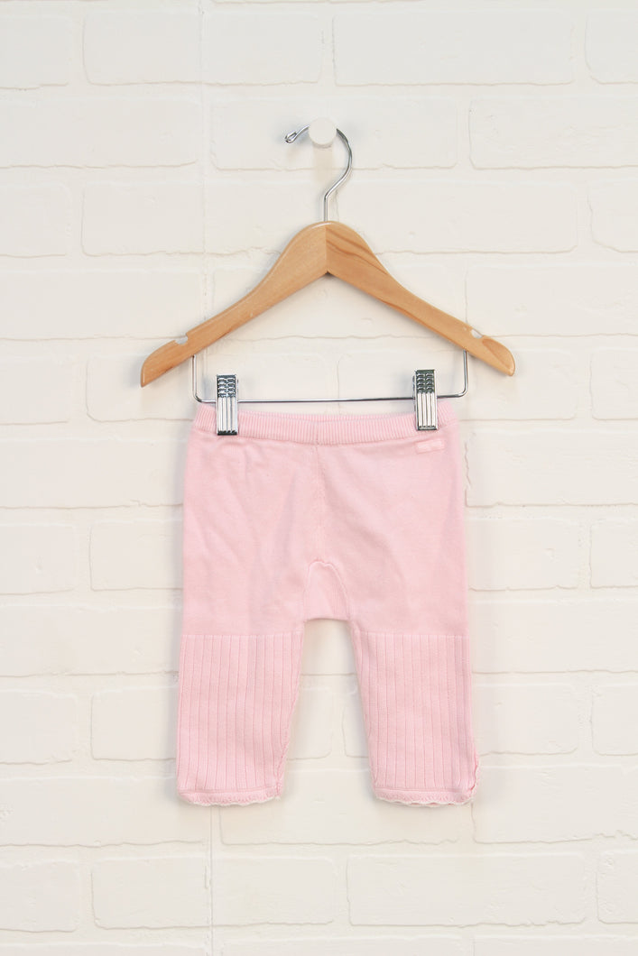 Pink Knit Pants (Size 62/3-6M)