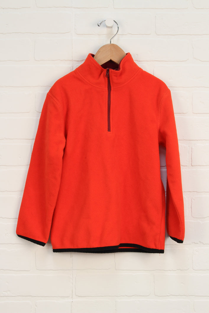 Orange Fleece Pullover (Size XS/4-5)