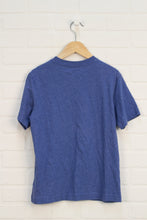Heathered Blue Graphic T-Shirt: Captain America (Size M/8)
