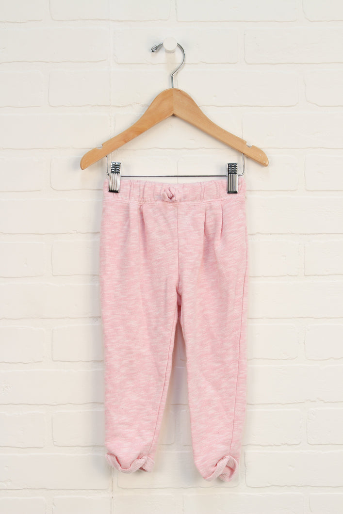 Heathered Pink French Terry Pants (Size 2T)